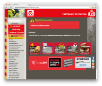 Tasmania Fire Service home fire safety resources & information