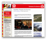 TFS Bushfire Safety Resources & Information