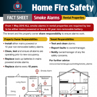 Home Fire Safety Fact Sheet - Smoke alarms in rental properties