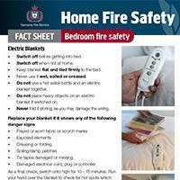 Home Fire Safety Fact Sheet - Bedroom fire safety