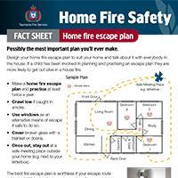 Home Fire Safety Fact Sheet - Escape plan