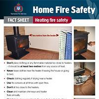 Home Fire Safety Fact Sheet - Heating fire safety