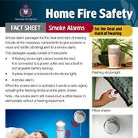 Home Fire Safety Fact Sheet - Smoke alarms for the deaf