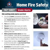 Home Fire Safety Fact Sheet - Smoke alarms