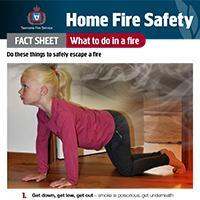 Home Fire Safety Fact Sheet - What to do in a fire