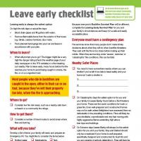Leave Early Checklist