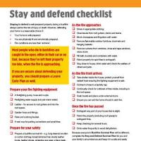 Stay and Defend Checklist